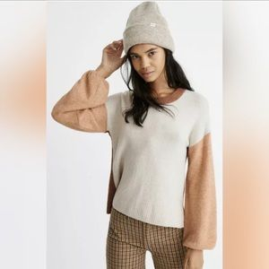 Madewell Colorblock Payton Pullover Sweater  B622